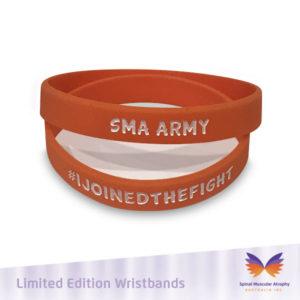SMA Army Orange Wristband