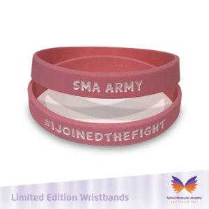 SMA Army Pink Wristband
