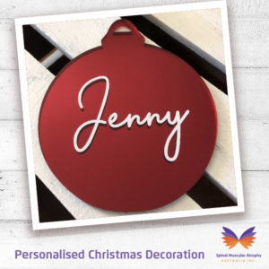 SMA Personalised Mirror Bauble Christmas Decoration