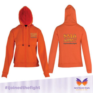 SMA Army Orange Zip Front Hoodie