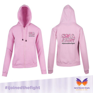 SMA Army Pink Zip Front Hoodie