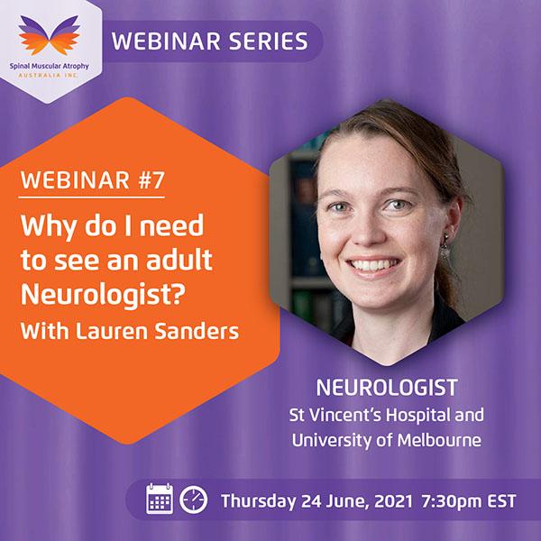 SMA Webinar Series Number 7 with Lauren Sanders